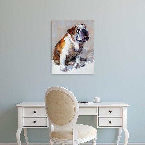 Easy Art Prints Edie Fagan's 'Major Wembly E. Bull Dog' Premium Canvas Art