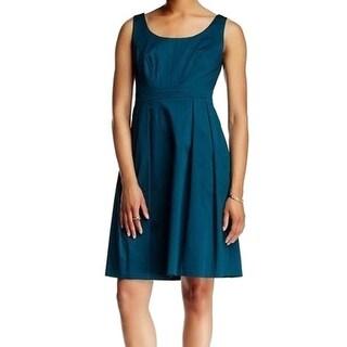 Nine West NEW Ocean Blue Women's Size 4 Pleated Seamed Stretch Dress