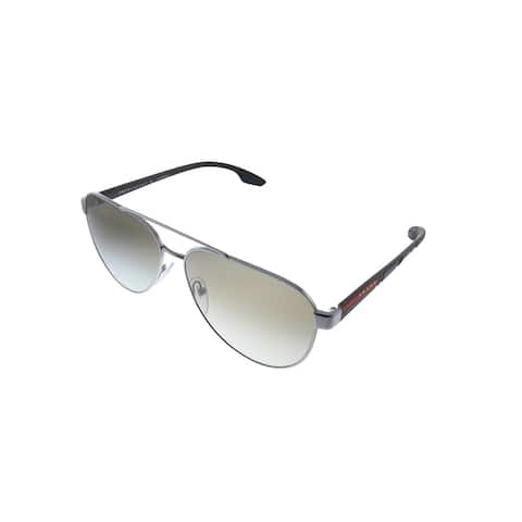 Prada Linea Rossa PS 54TS 5AV1X1 61mm Unisex Gunmetal Frame Brown Gradient Lens Sunglasses