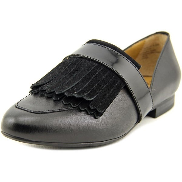 GH Bass & Co Harlow Women Round Toe Leather Black Loafer