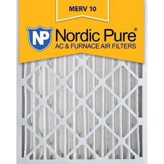 Nordic Pure 20x25x4 Pleated MERV 10 AC Furnace Air Filters Qty 2