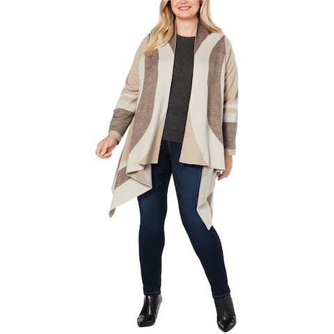 I-N-C Womens Draped Cardigan Sweater