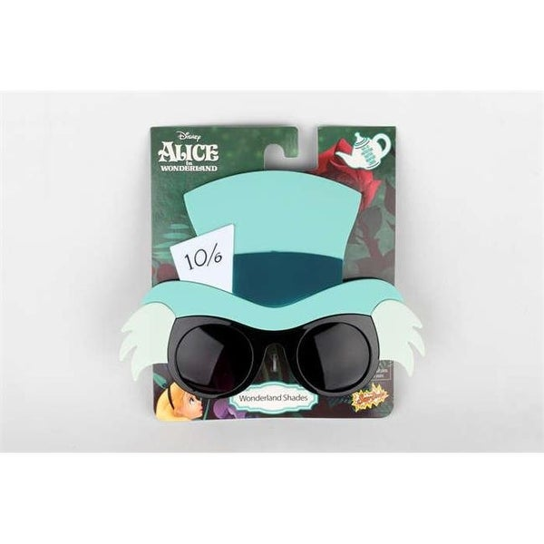 a36dcbd72011 Sunstaches SG2590 Mad Hatter Alice In Wonderland Novelty Sunglasses