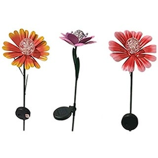 Smart Solar 3045WRM1 Solar Colorful Flower Stake, Pack Of 12