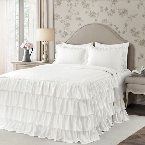 The Gray Barn Molly Mae Ruffle Skirt Bedspread Set