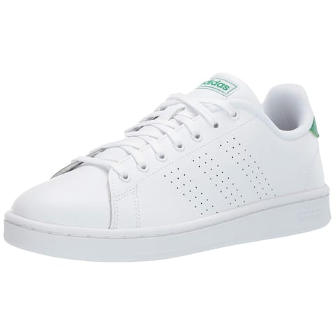 new styles b265a c044f Adidas Mens Advantage Sneaker, Adult, White White Green