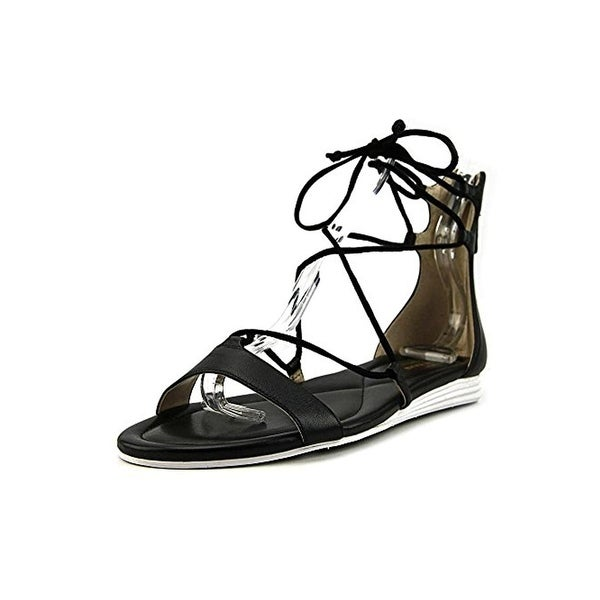 Cole Haan Womens Original Grand Flat Sandals Leather Lace Up