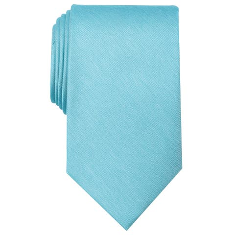 Perry Ellis Men's Elise Solid Tie Aqua Necktie