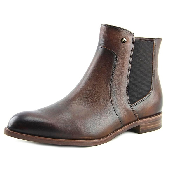 Isola Mora Women Round Toe Leather Brown Ankle Boot