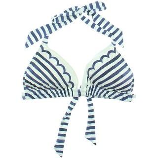 Profile Blush by Gottex Womens Striped Halter Swim Top Separates - M