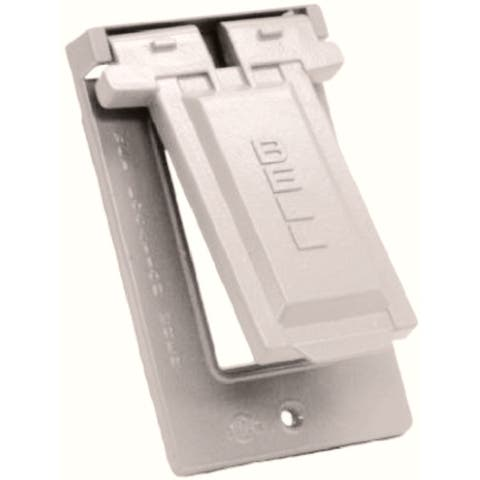 Bell 5103-1 GFCI Weatherproof Single Gang Vertical Outlet Covers, White