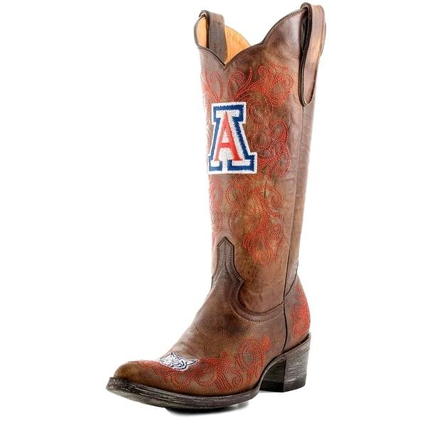 Gameday Boots Womens College Arizona Wildcats Brass Red