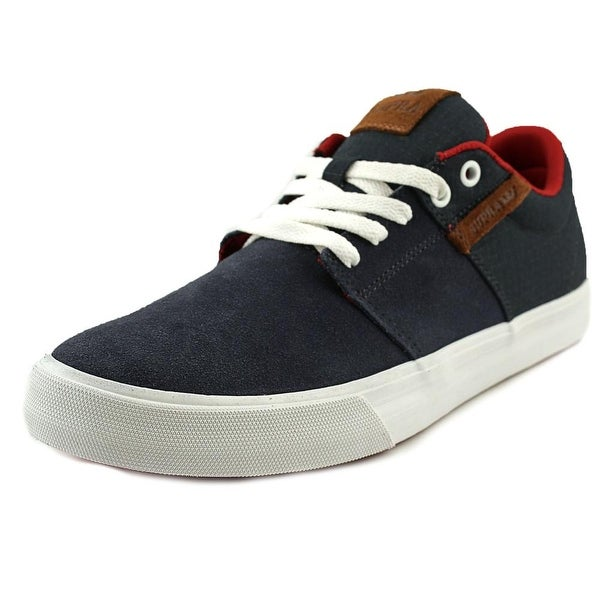 Supra Stacks Vulc II Men Navy/Red-Wht Skateboarding Shoes