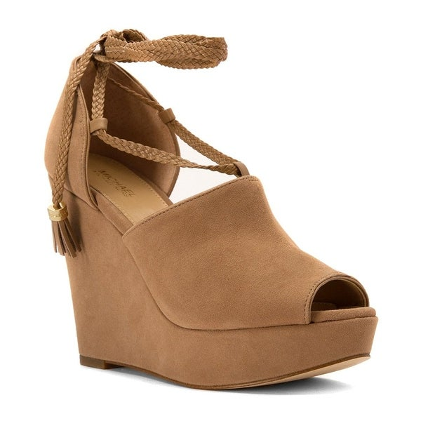 MICHAEL Michael Kors Womens Hastings Fabric Open Toe Casual Platform Sandals
