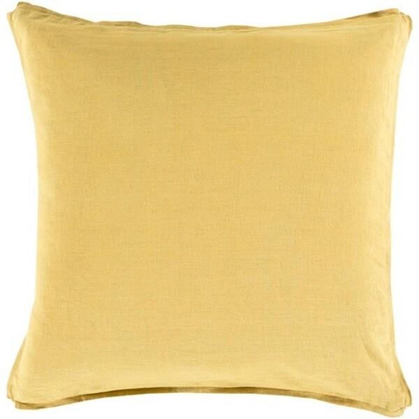 "20"" Yellow Decorative Square Throw Pillow"