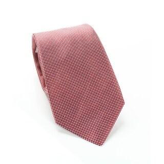Ike by Ike Behar Red Men's One Size Geometric Print Silk Neck Tie