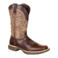 """Durango Boot Men's DDB0137 Ultra-Lite 12"""" Waterproof Western Boot Brown Leather Vintage Full Grain Leather/Synthetic"""