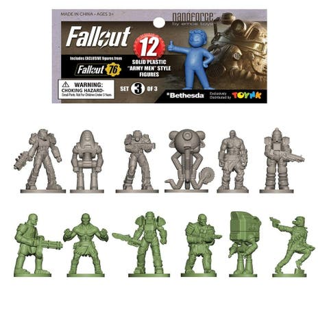 Fallout Nanoforce Series 1 Army Builder Figure Collection - Bagged Version 3 - Multi