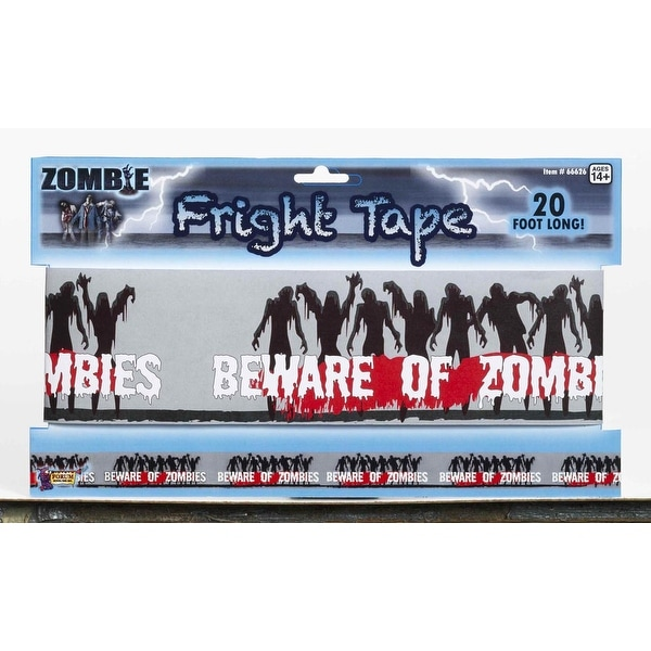 Beware of Zombies Warning Tape Halloween Party Prop Decoration