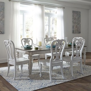 Link to Magnolia Manor Antique White 7-piece Splat Back Rectangular Dinette Set Similar Items in Dining Room & Bar Furniture