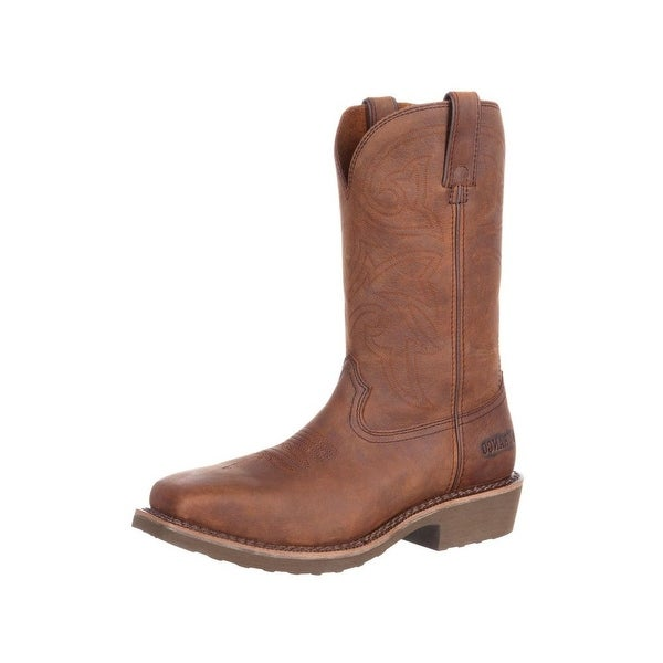 Durango Western Boots Mens Farm N Ranch Steel Toe EH Brown DDB0100