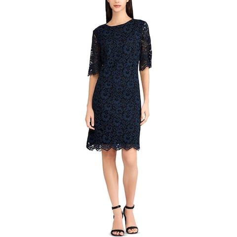 American Living Womens Lina Wear to Work Dress Lace Floral