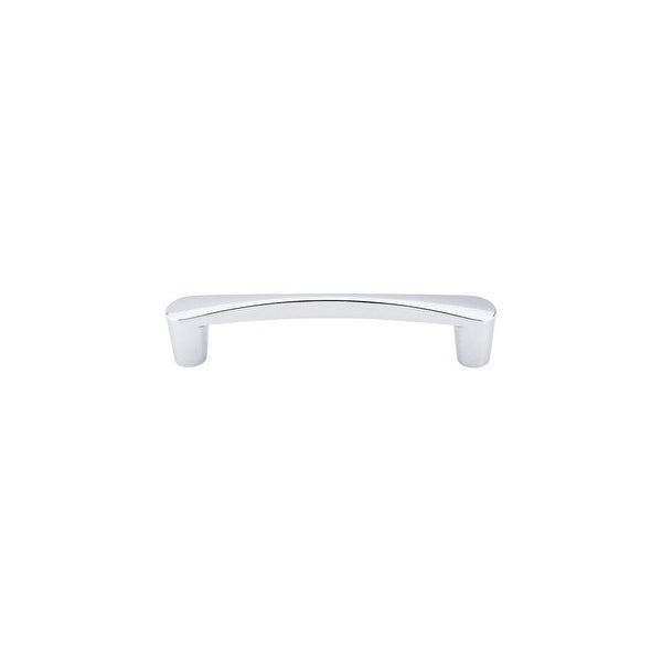 """Top Knobs M1181 Infinity 5"""" (128 mm) Center to Center Handle Cabinet Pull from the Nouveau III Series - Polished chrome"""