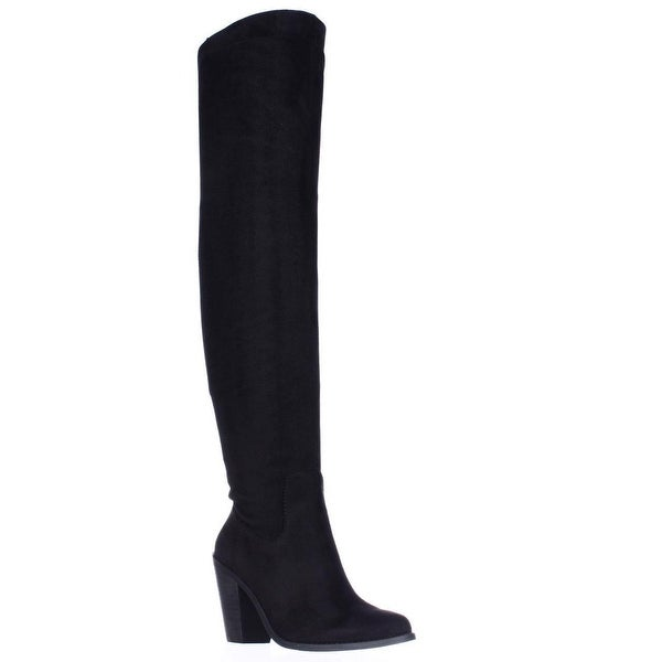 Jessica Simpson Coriee Over The Knee Back Lace Heeled Boots, Black