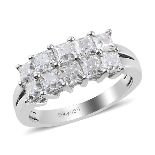 Shop LC Platinum Over 925 Sterling Silver Moissanite Band Ring Ct 3.5. Opens flyout.