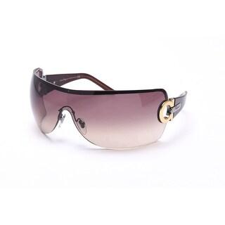 Salvatore Ferragamo Women's Shield Sunglasses Brown Gold - Small