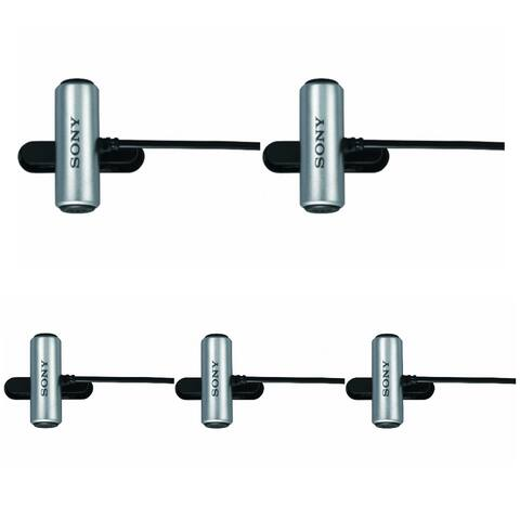Sony Clip-Style Omni-Directional Stereo Microphone (5 Pack)