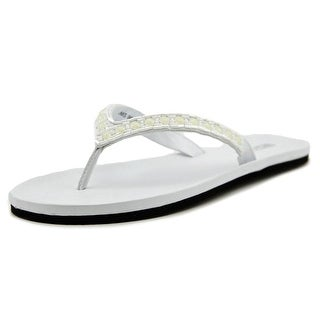 Kenneth Cole Reaction Star Sail Women Open Toe Synthetic White Thong Sandal