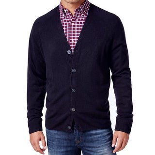 Weatherproof NEW Navy Blue Men's Size 2XL Button Down Cardigan Sweater