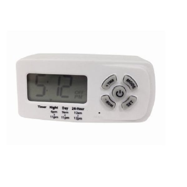 Southwire 50007Wd 10A Indoor Plug In Daily Lamp Slim Fit Single Outlet Digital Timer