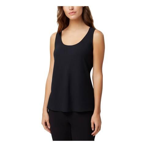 TAHARI Womens Black Sleeveless Scoop Neck Tank Top Size PXS