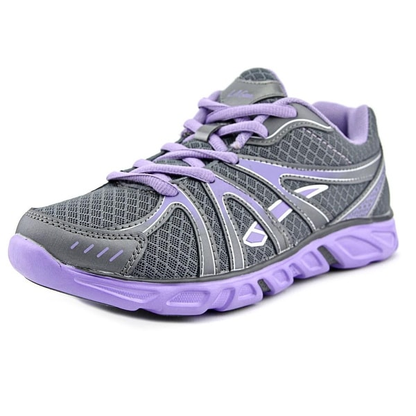 La Gear Enlist Women Round Toe Synthetic Gray Running Shoe
