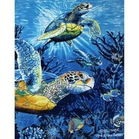 New Signature Collection Sea Turtles Queen Size Mink Blanket