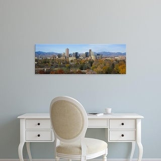 Easy Art Prints Panoramic Image 'Skyscrapers in a city with mountains in the background, Denver, Colorado' Canvas Art