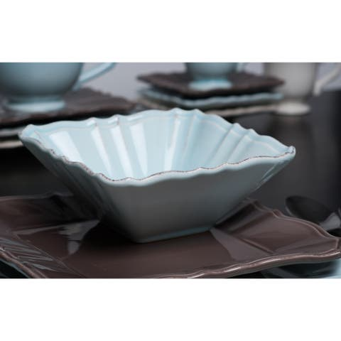 Countryside Moka Square 10.5-inch Dinner Plate (Set of 4)