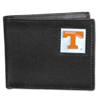Tennessee Volunteers Leather Bi Fold Wallet 2 Flip ID Windows