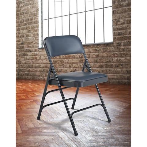 (4 Pack) NPS 1300 Series - Vinyl Upholstered - Premium Folding Chair