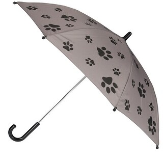 CTM® Kid's Paw Print Stick Umbrella - One size