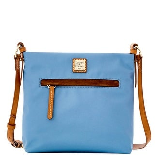 Dooney & Bourke Windham Daisy Letter Carrier (Introduced by Dooney & Bourke at $138 in Jul 2016) - Dusty Blue