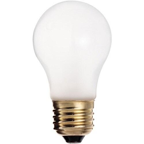 Satco S3740 Incandescent Appliance Light Bulb, 60 Watts, 130 Volt