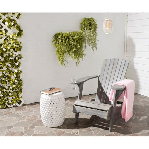 SAFAVIEH Outdoor Living Vista Ash Grey Acacia Wood Adirondack Chair