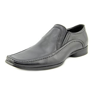 Kenneth Cole Reaction Key Note Men W Apron Toe Leather Black Loafer