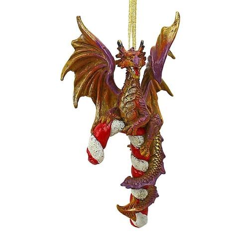 Design Toscano Cane and Abel the Dragon 2017 Holiday Ornament