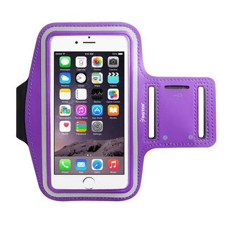Insten Universal Sports Workout Gym Armband with Key Holder and Reflective Strip for iPhone 7/ 6s/ 6/ Samsung S3/ S4