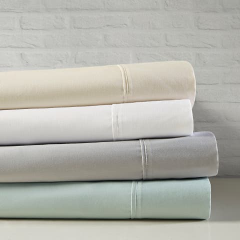 Beautyrest 400 Thread Count Wrinkle Resistant Cotton Sateen Bed Sheet Set