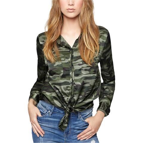 Sanctuary Clothing Womens Camo Button Up Shirt